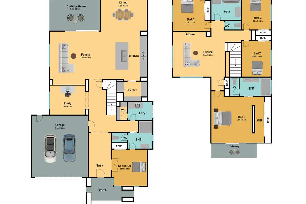 Floorplan of Homely house listing, 9 Rosewater Street, Manor Lakes VIC 3024