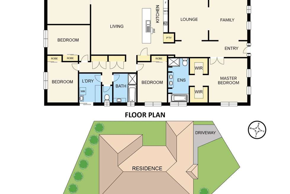 Floorplan of Homely house listing, 18 Versace Court, Pakenham VIC 3810