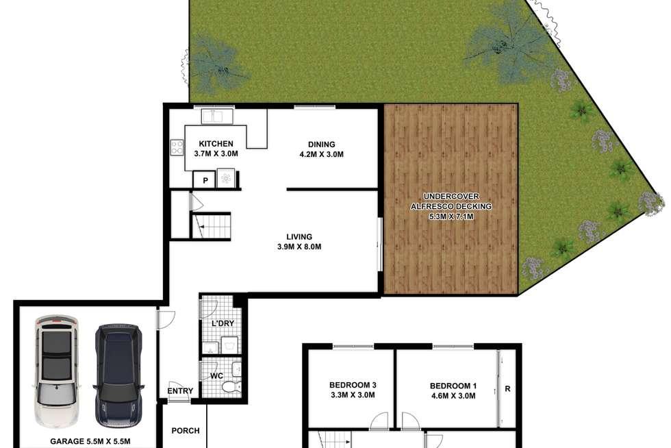 Floorplan of Homely townhouse listing, 4/1 Vista Street, Oatlands NSW 2117