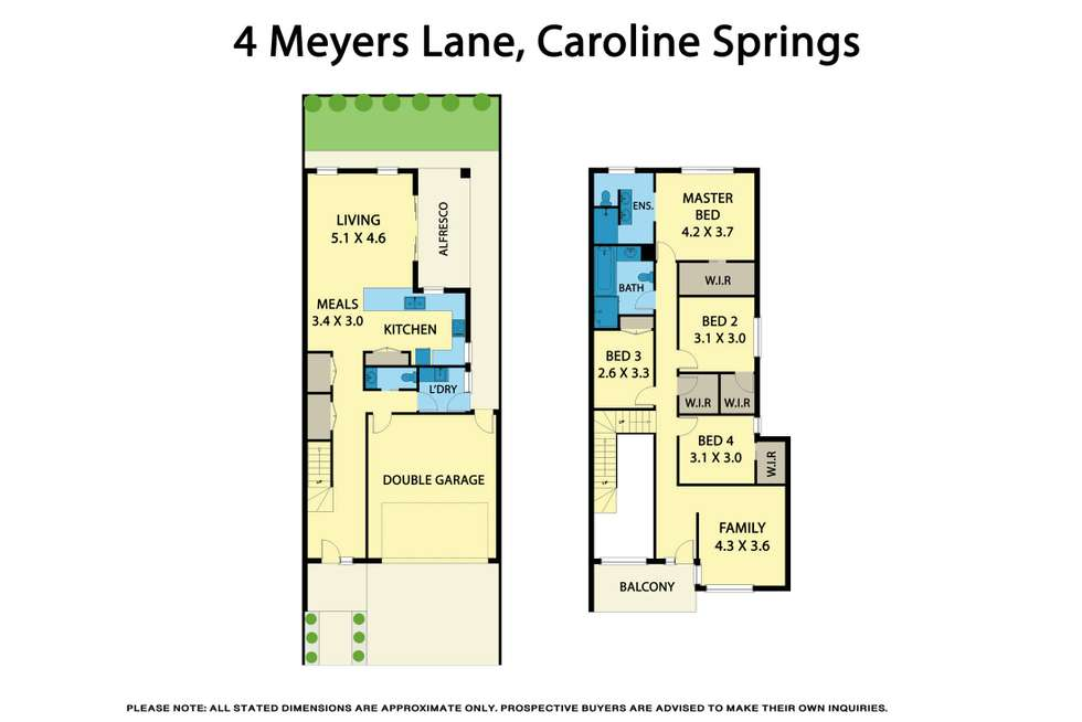 Floorplan of Homely house listing, 4 Meyers Lane, Caroline Springs VIC 3023