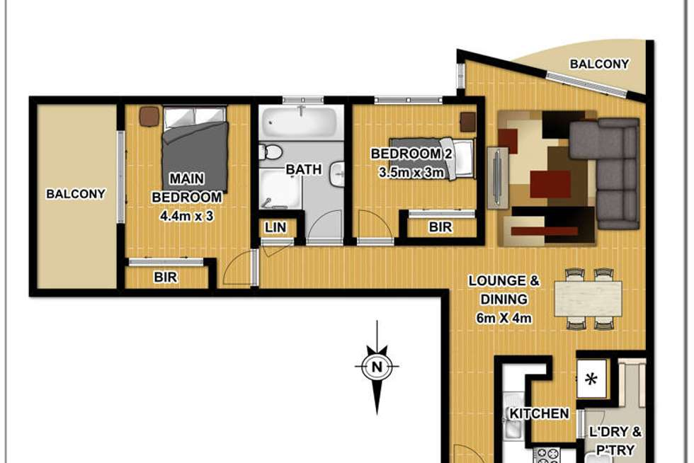 Floorplan of Homely unit listing, 21/12-16 Toongabbie Road, Toongabbie NSW 2146