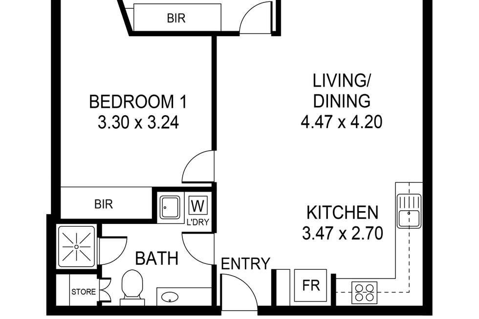 Floorplan of Homely apartment listing, 1205/102 Waymouth Street, Adelaide SA 5000