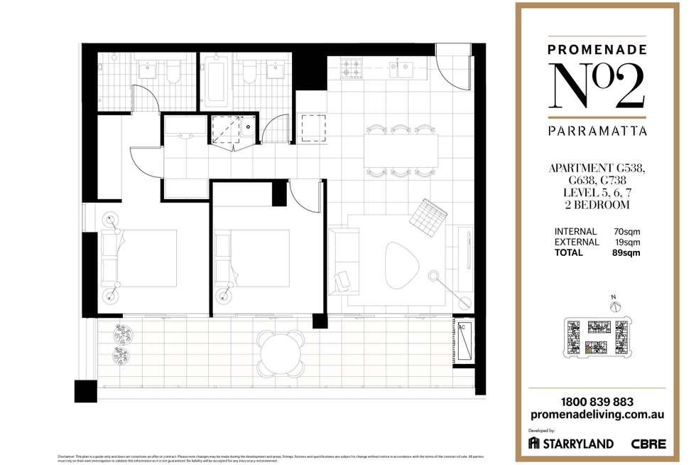 Floorplan of Homely apartment listing, G538/1 Broughton Street, Parramatta NSW 2150