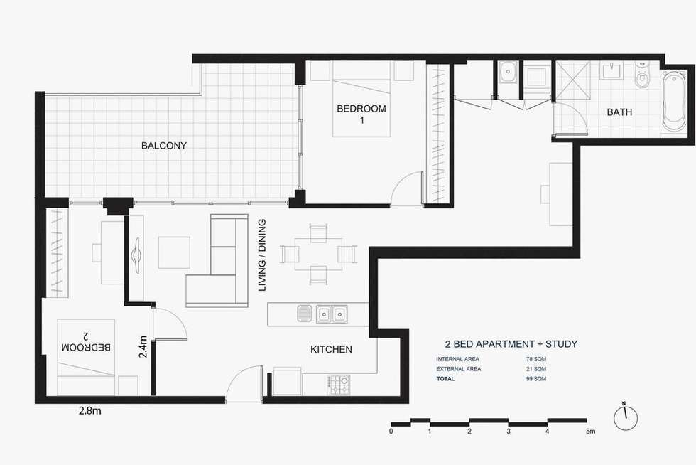 Floorplan of Homely apartment listing, Level 5/248 Coward Street, Mascot NSW 2020