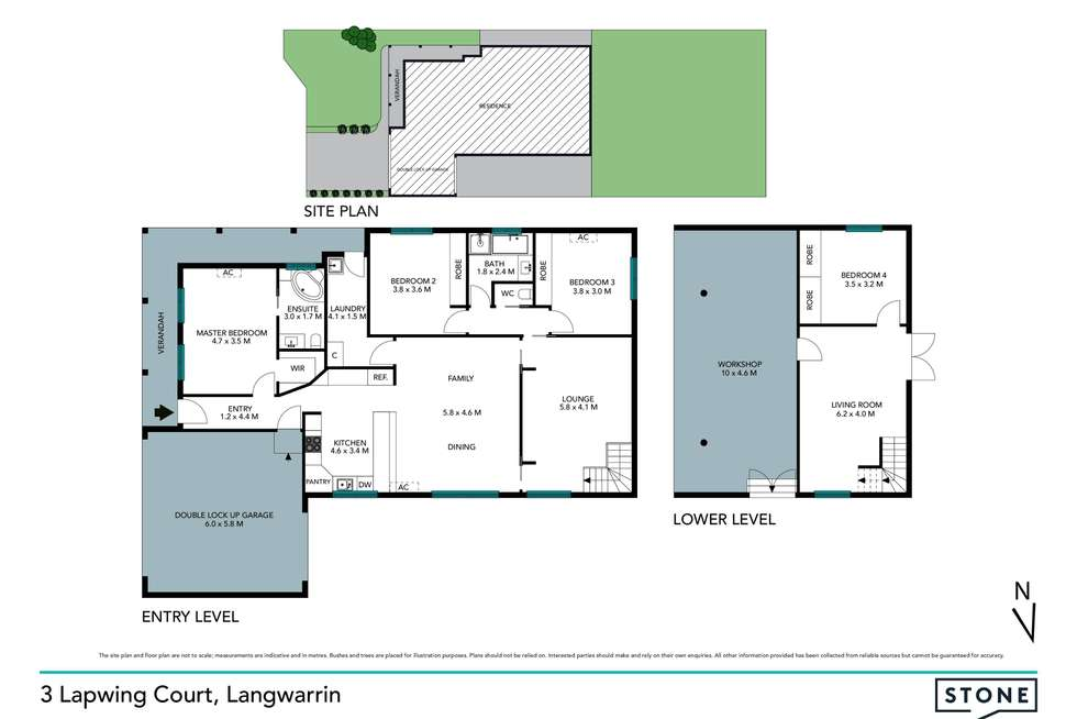 Floorplan of Homely house listing, 3 Lapwing Court, Langwarrin VIC 3910