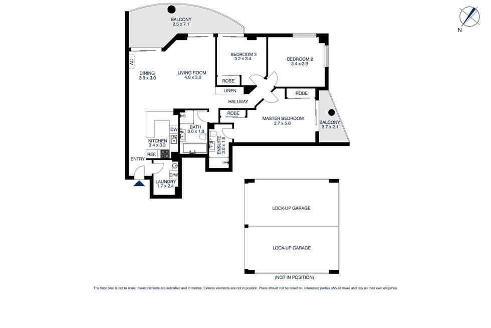 Floorplan of Homely unit listing, 308/91a Bridge Road, Westmead NSW 2145