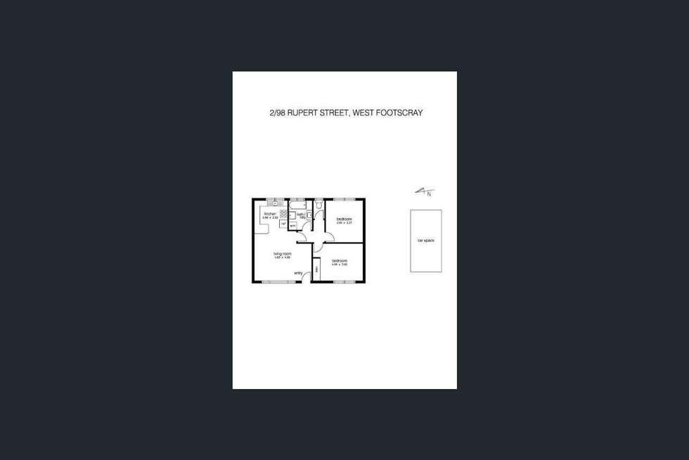 Floorplan of Homely unit listing, 2/98 Rupert Street, West Footscray VIC 3012