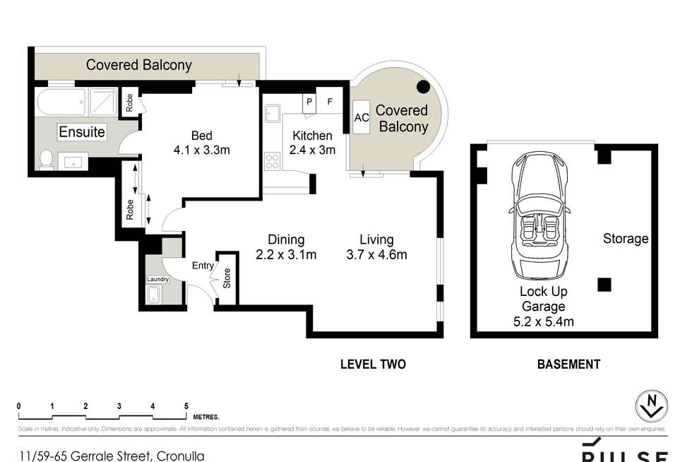 Floorplan of Homely apartment listing, 11/59-65 Gerrale Street, Cronulla NSW 2230