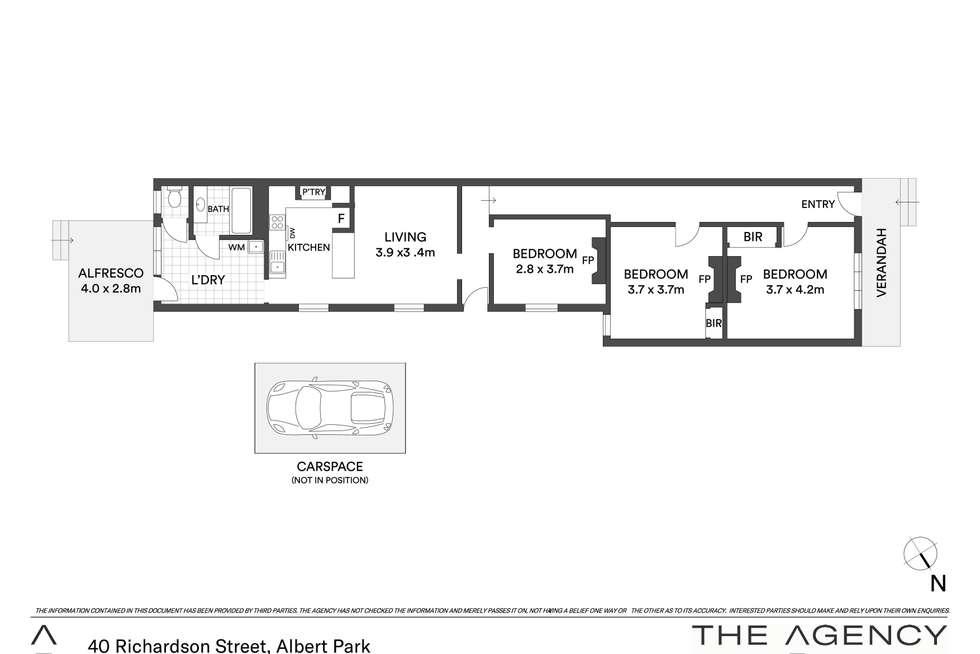 Floorplan of Homely house listing, 40 Richardson Street, Albert Park VIC 3206