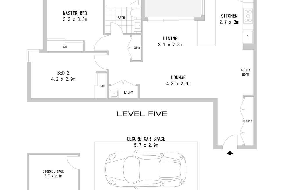 Floorplan of Homely apartment listing, 502/51-53 Hill Road, Wentworth Point NSW 2127