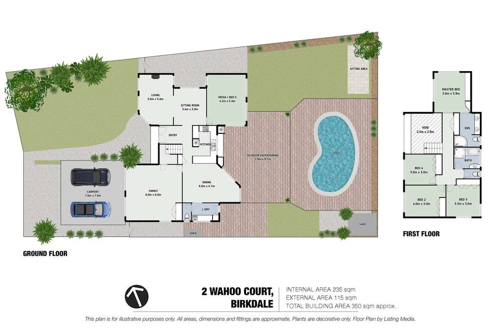 Floorplan of Homely house listing, 2 Wahoo Court, Birkdale QLD 4159