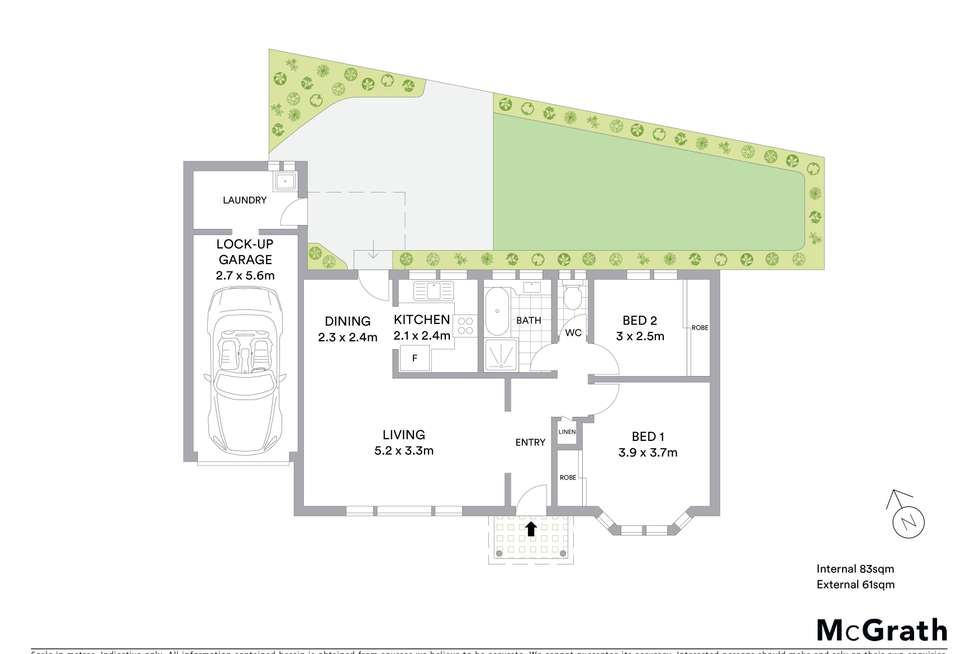 Floorplan of Homely villa listing, 3/38 Oakland Avenue, The Entrance NSW 2261