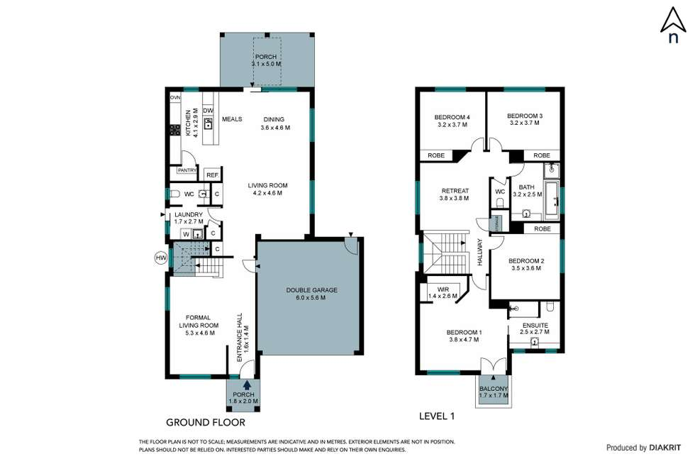Floorplan of Homely house listing, 4 Morwell Way, Mernda VIC 3754