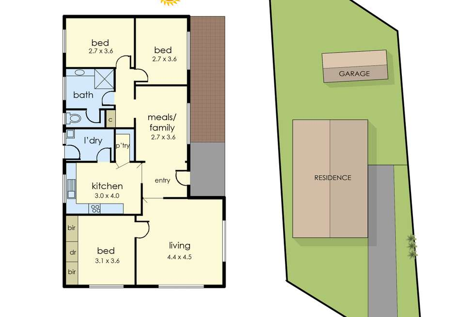 Floorplan of Homely house listing, 23 Railway Road, Baxter VIC 3911