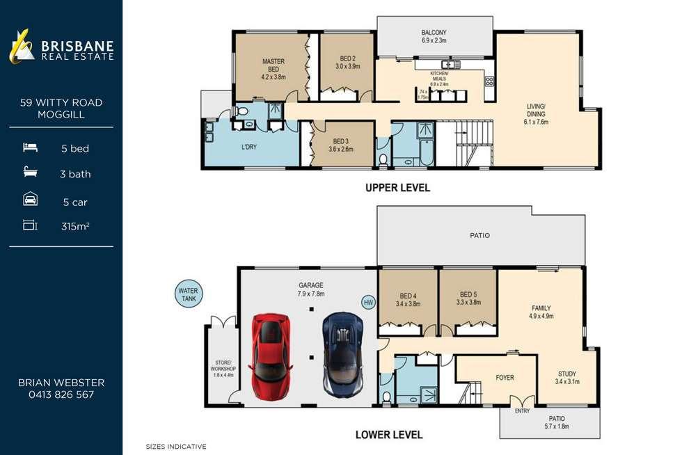 Floorplan of Homely house listing, 59 Witty Road, Moggill QLD 4070