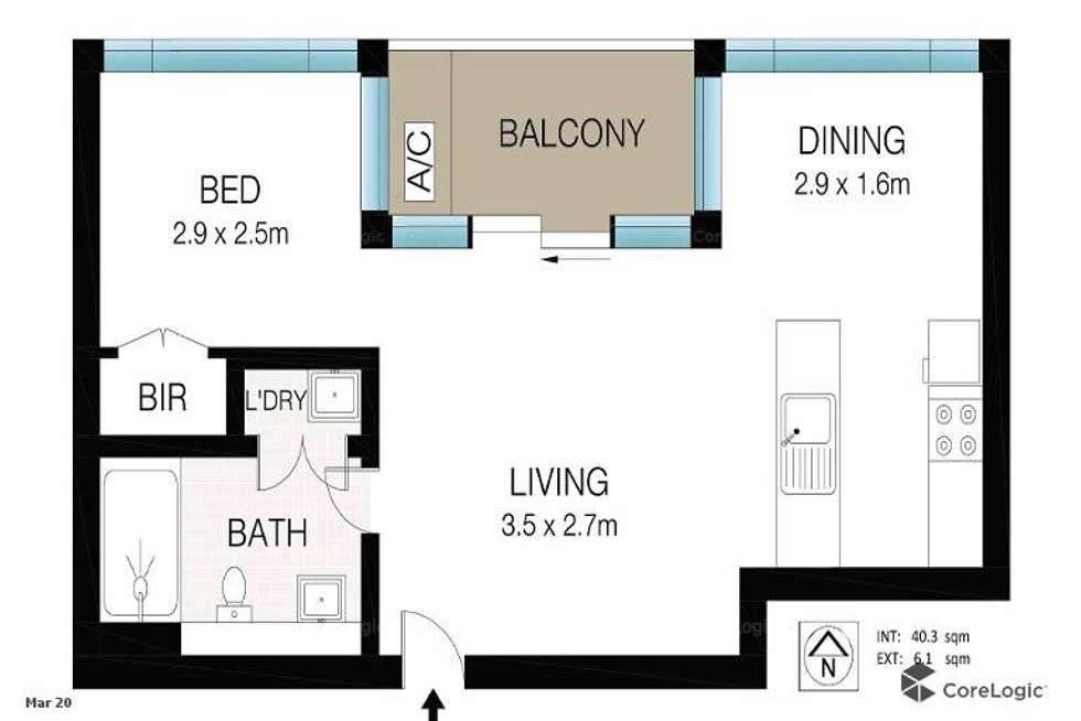 Floorplan of Homely apartment listing, 302/267 Sussex Street, Sydney NSW 2000