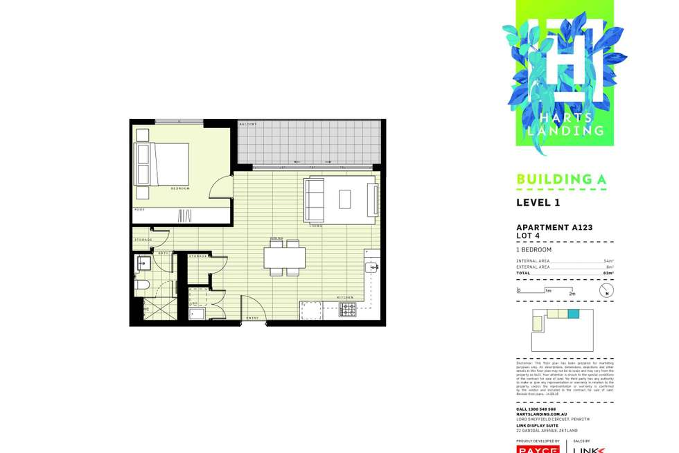 Floorplan of Homely apartment listing, 123/1-39 Lord Sheffield Circuit, Penrith NSW 2750