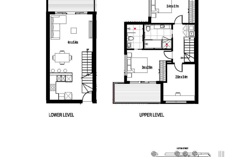 Floorplan of Homely apartment listing, 402/85 Hutton Street, Thornbury VIC 3071