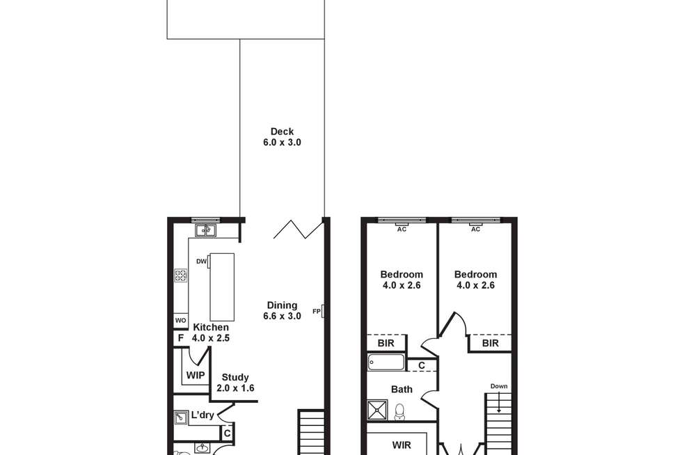 Floorplan of Homely townhouse listing, 9/276-280 Williamstown Road, Yarraville VIC 3013