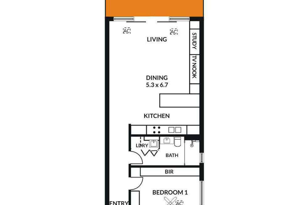 Floorplan of Homely apartment listing, 32/58 King William Street, Kent Town SA 5067