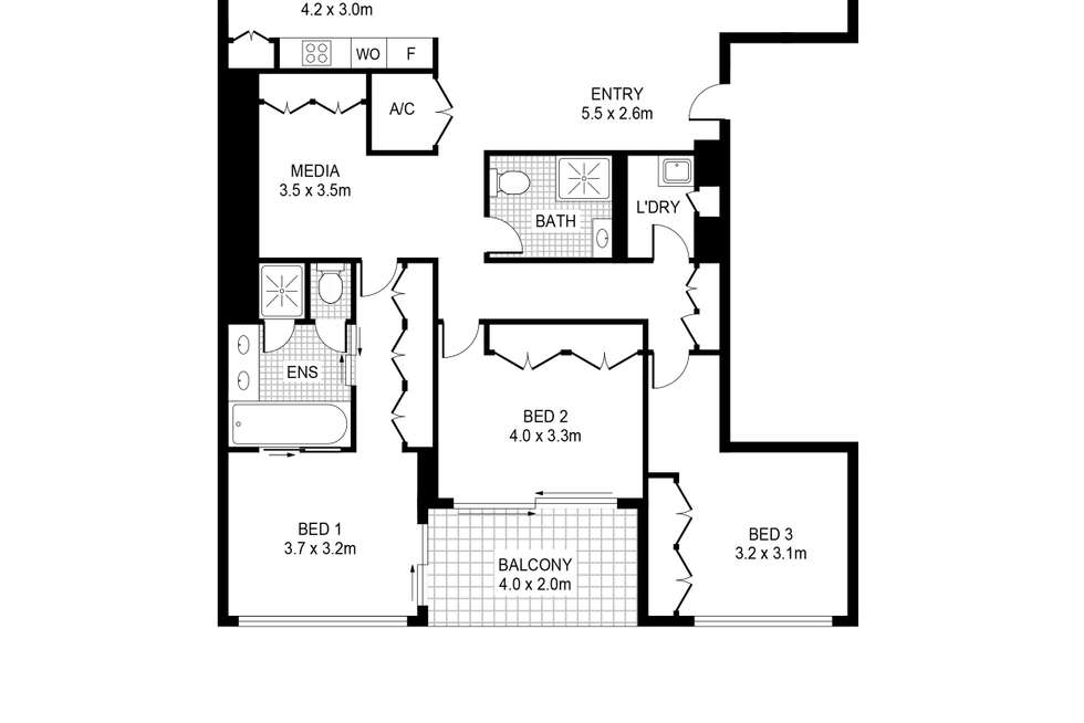 Floorplan of Homely apartment listing, 29/56A Pirrama Road, Pyrmont NSW 2009