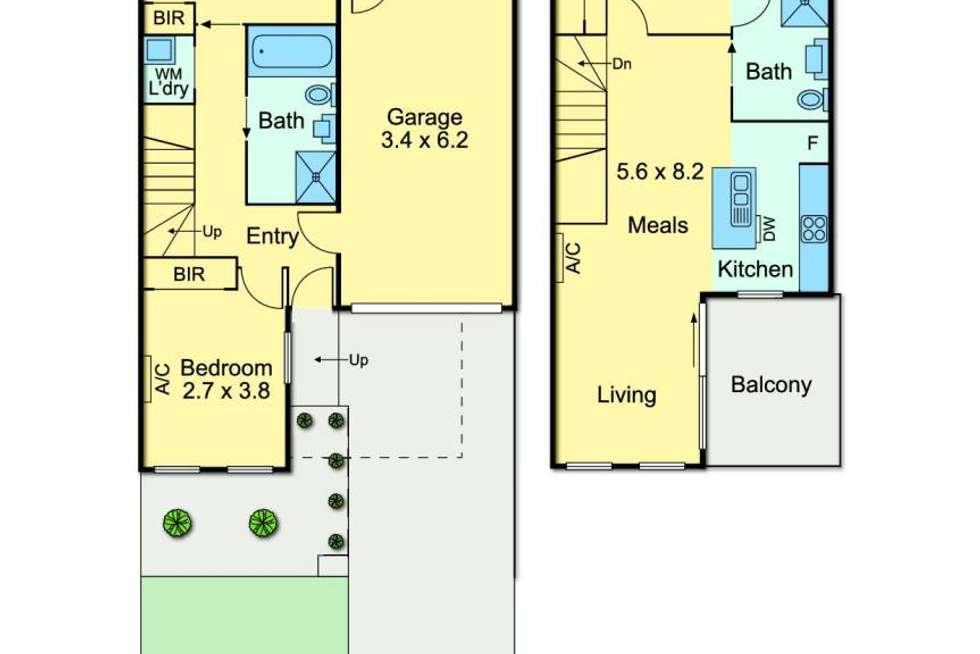 Floorplan of Homely townhouse listing, 166 Flinders Street, Thornbury VIC 3071