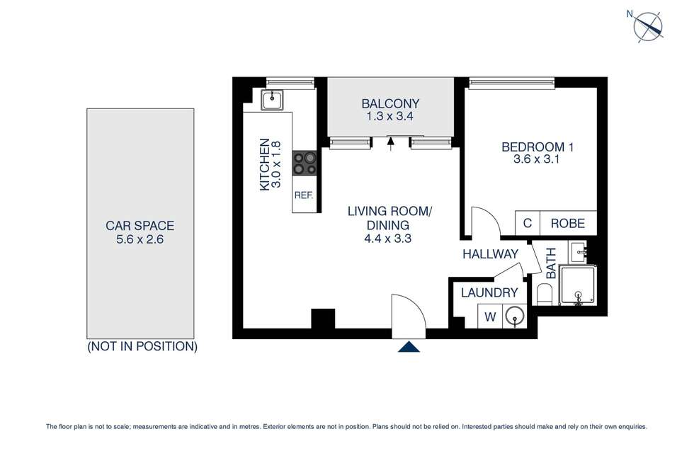 Floorplan of Homely apartment listing, 10c/15 Campbell Street, Parramatta NSW 2150
