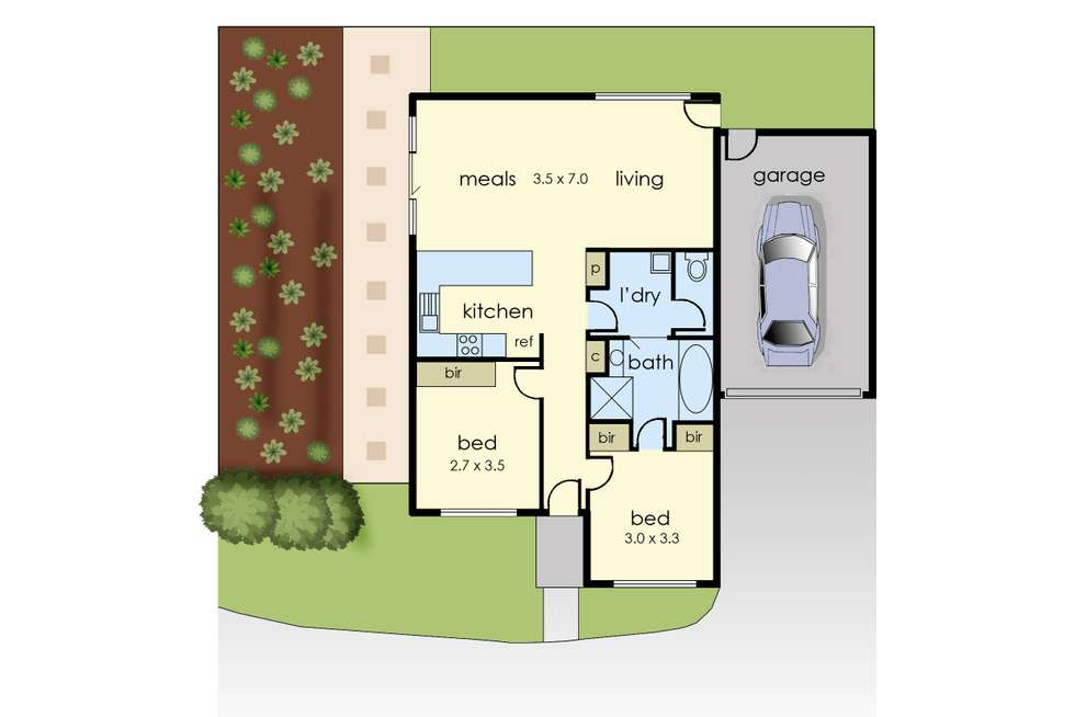 Floorplan of Homely unit listing, 2/60 Sunny Vale Drive, Langwarrin VIC 3910