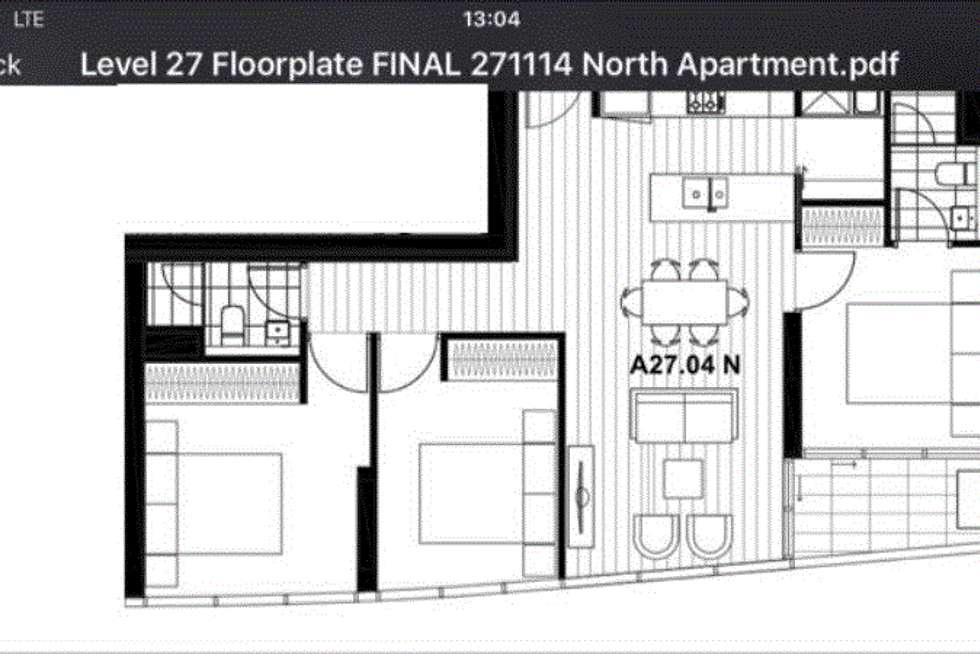 Floorplan of Homely apartment listing, 2704N/889 Collins Street, Docklands VIC 3008