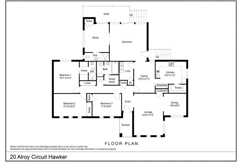 Floorplan of Homely house listing, 20 Alroy Circuit, Hawker ACT 2614