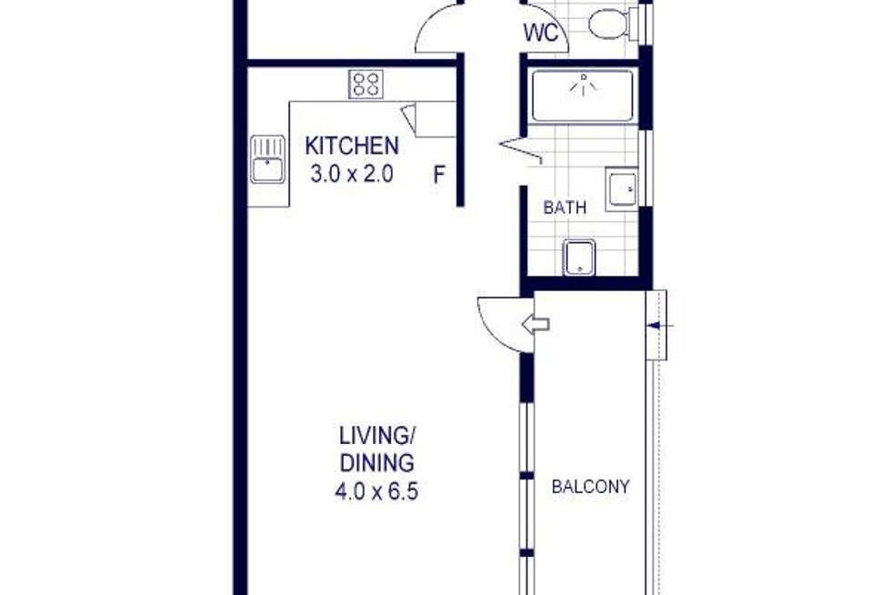Floorplan of Homely apartment listing, 9 Burke Road, Cronulla NSW 2230