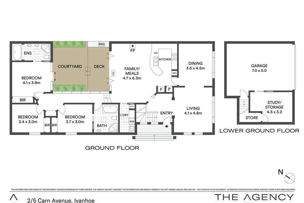 Floorplan of Homely house listing, 2/5 Carn Avenue, Ivanhoe VIC 3079