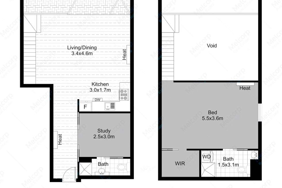 Floorplan of Homely apartment listing, 11/51 Stawell Street, West Melbourne VIC 3003