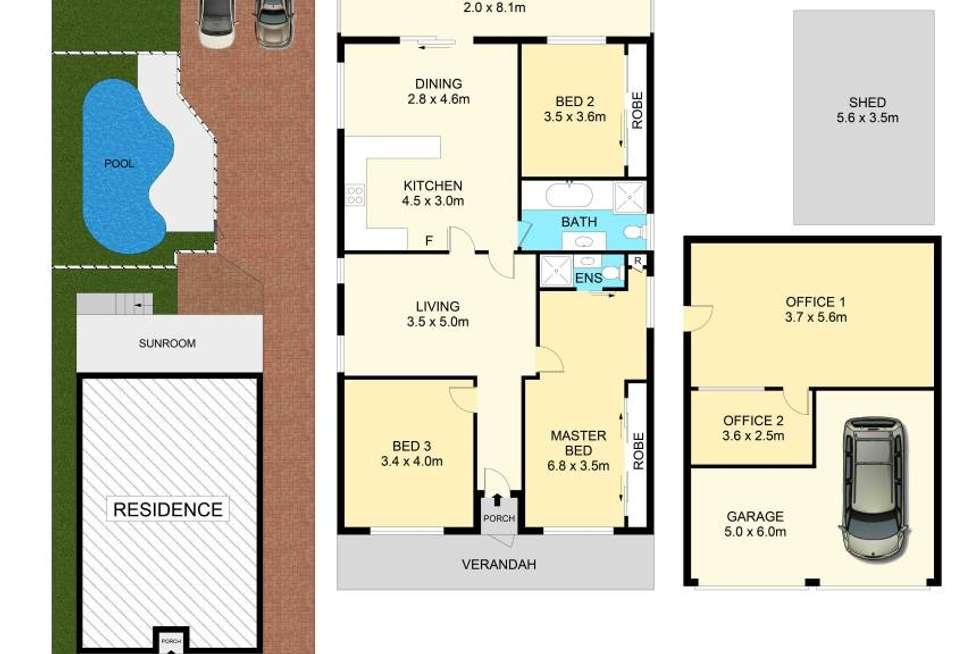 Floorplan of Homely house listing, 44 Woodbine Street, Yagoona NSW 2199