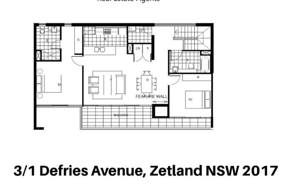 Floorplan of Homely apartment listing, 3/1 Defries Avenue, Zetland NSW 2017