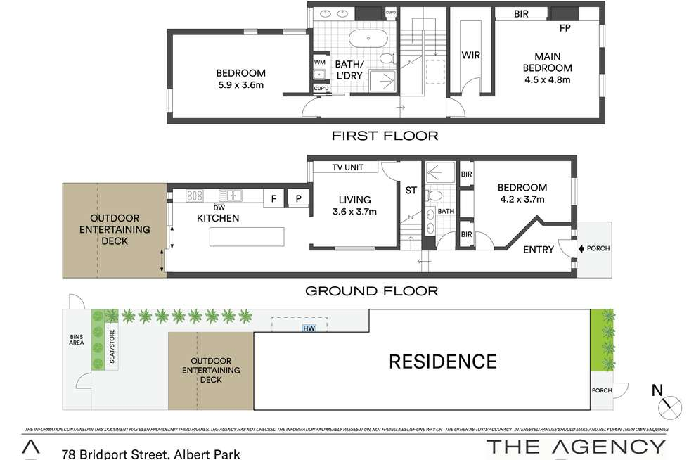 Floorplan of Homely house listing, 78 Bridport Street, Albert Park VIC 3206