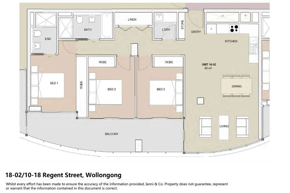 Floorplan of Homely apartment listing, 1802/10-18 Regent Street, Wollongong NSW 2500