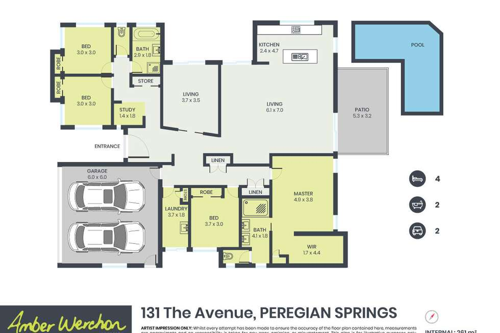 Floorplan of Homely house listing, 131 The Avenue, Peregian Springs QLD 4573