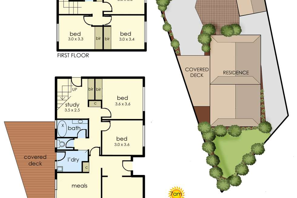 Floorplan of Homely house listing, 4 Carter Court, Frankston VIC 3199
