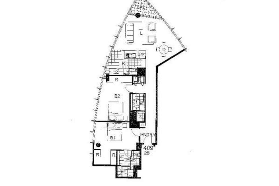Floorplan of Homely apartment listing, 409/20 Pelican Street, Darlinghurst NSW 2010