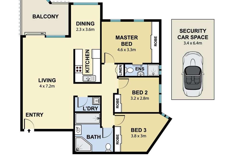 Floorplan of Homely unit listing, 49/98 Chandos Street, Ashfield NSW 2131