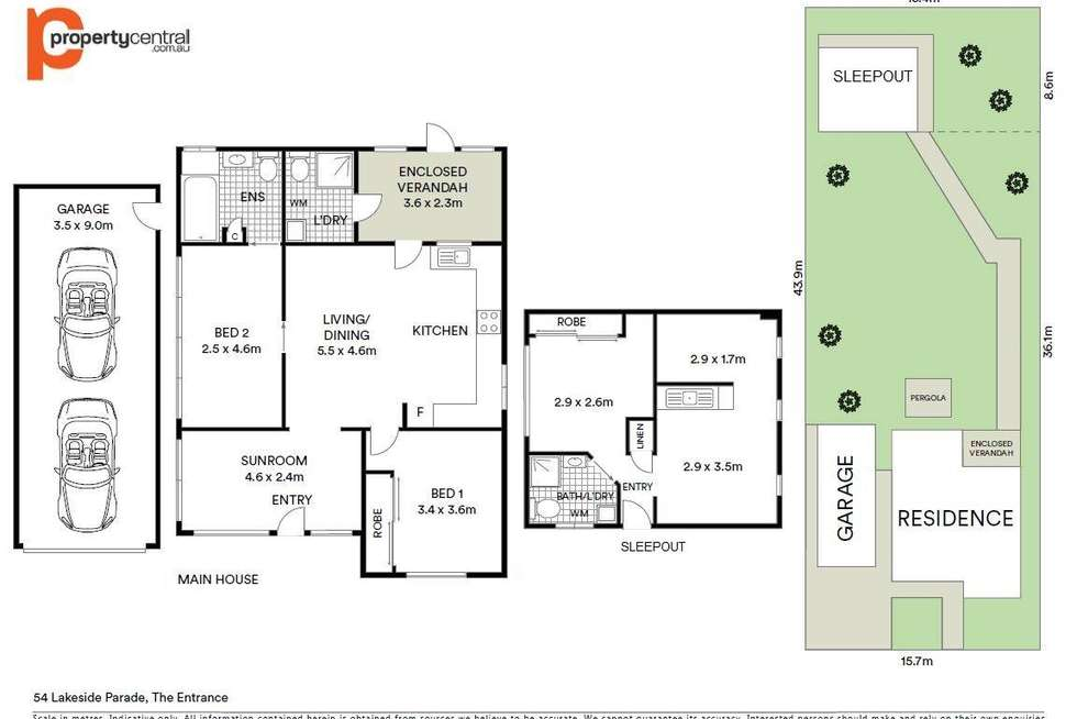 Floorplan of Homely house listing, 54 Lakeside Parade, The Entrance NSW 2261