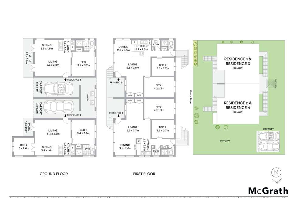 Floorplan of Homely semiDetached listing, 44 Henry Street, West End QLD 4810