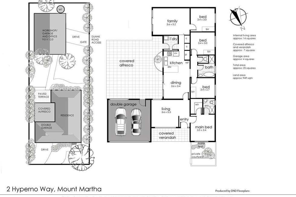 Floorplan of Homely house listing, 2 Hyperno Way, Mount Martha VIC 3934