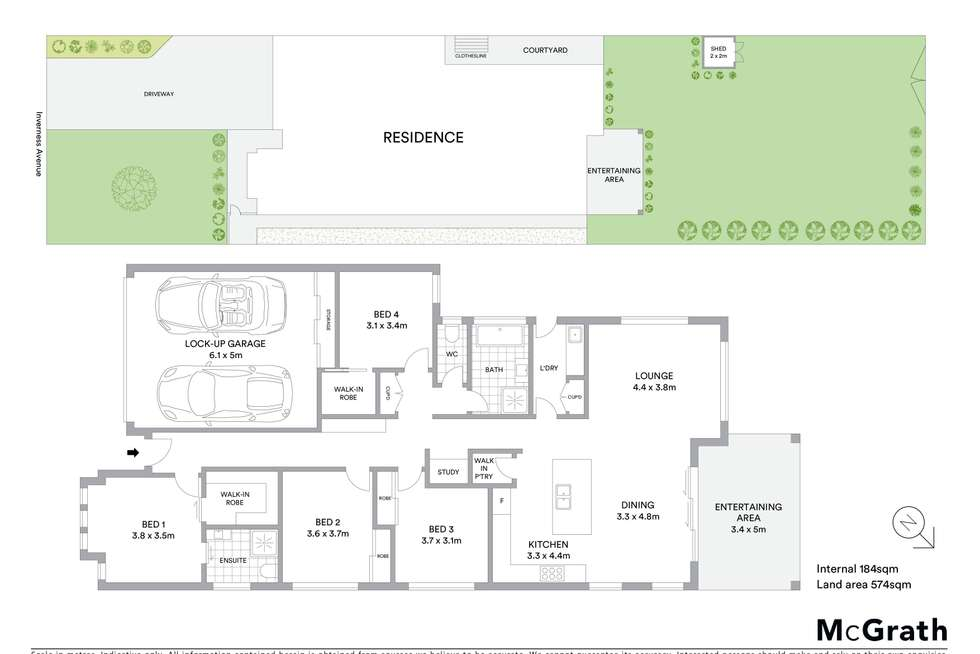Floorplan of Homely house listing, 5a Inverness Avenue, Mudgee NSW 2850
