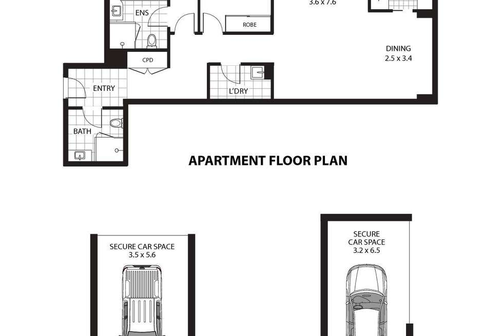 Floorplan of Homely apartment listing, 58/50 Oxley Street, St Leonards NSW 2065