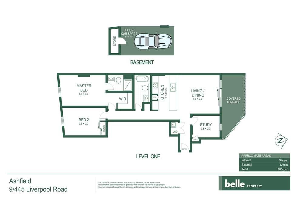 Floorplan of Homely unit listing, 9/445-455 Liverpool Road, Ashfield NSW 2131