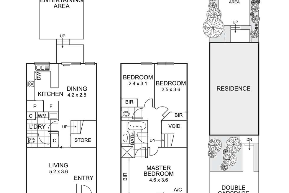 Floorplan of Homely townhouse listing, 4 Mill Place, Coburg VIC 3058