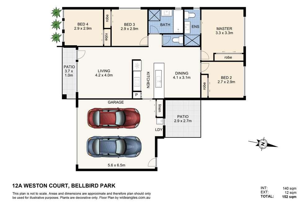 Floorplan of Homely semiDetached listing, 12a Weston Court, Bellbird Park QLD 4300
