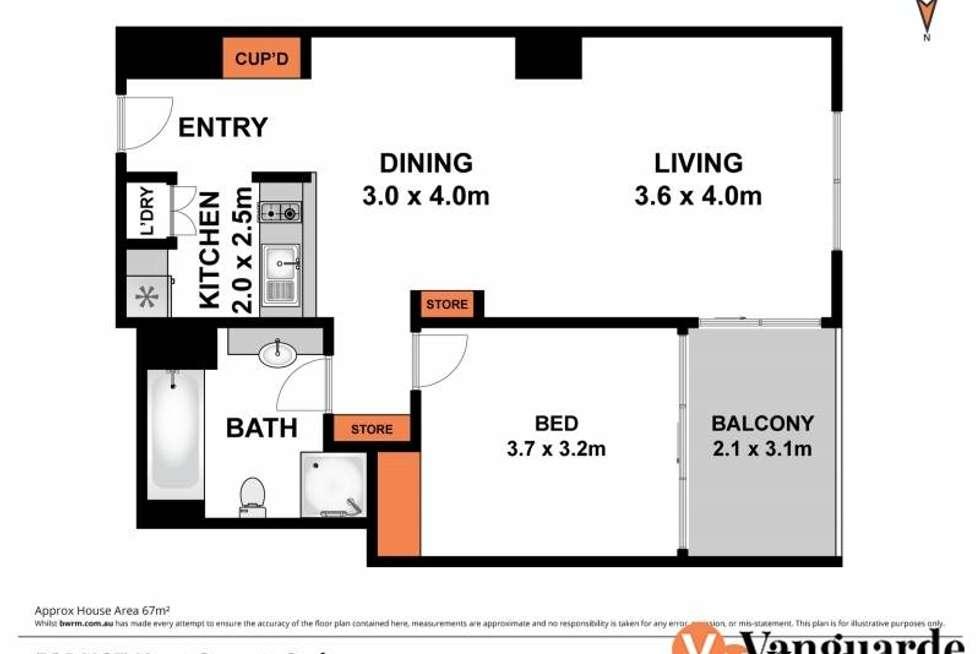 Floorplan of Homely apartment listing, 187 Kent Street, Sydney NSW 2000